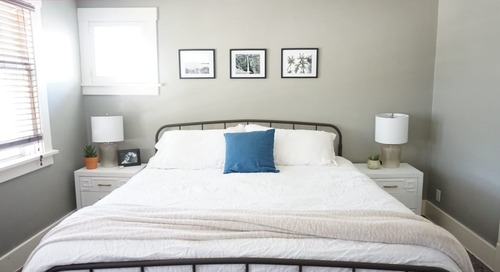 Before and After: This $100 Bedroom Accent Wall Uses an Unexpected Material