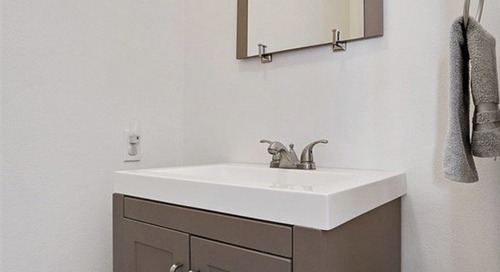 Before and After: A Groovy, Statement-Making Redo for a Stark White Bathroom
