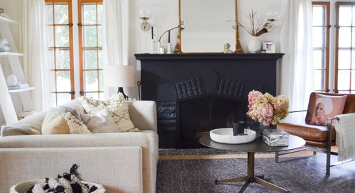 Take Notes: This 1930s Tudor-Style Home Has the Coziest Living Room