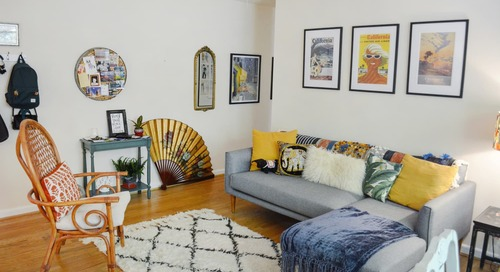 This Travel Journalist's First 'Big Girl' Apartment Is a Cozy, Colorful, Maximalist Mix