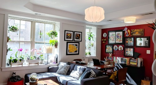 A Small Shared Condo Features Smart Storage Solutions and Over 50 Different Houseplants
