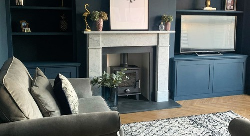 Another UK Home Has a Deliciously Dark and Dramatic Color Palette