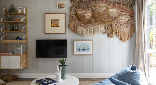 This Home's Soft Pastels, Patterns, & Textures Are the Epitome of Coastal Style