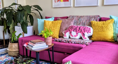 This Boho Apartment Shows How to Add Loads of Color to a Standard Rental