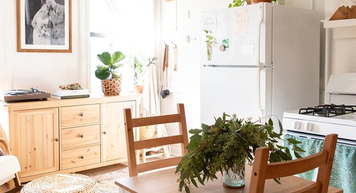 A Couple Has DIYed This 350-Square-Foot Apartment into a Serene, Minimal Home