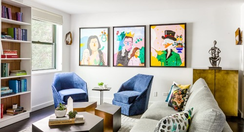 This NYC Apartment Has a Delightfully Bold Dining Banquette