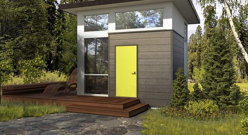 This Tiny House Cube Looks Bigger Than Its 300 Square Feet—and You Can Get It on Amazon