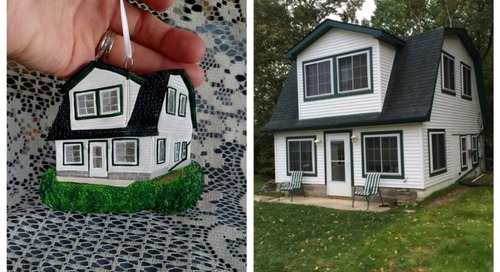 This Artist Can Make a Custom Ornament That Looks Exactly Like Your House