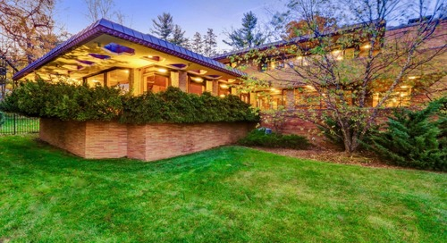 """This Frank Lloyd Wright-Inspired House Featured in """"The Marvelous Mrs. Maisel"""" is for Sale"""