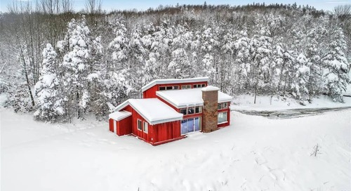 This Bright Red Ski House Is on the Market for Just Under $300,000