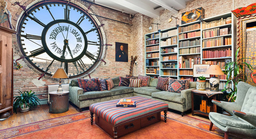 Look Inside: This Jaw-Dropping Brooklyn Loft Has a Gigantic Clock Window
