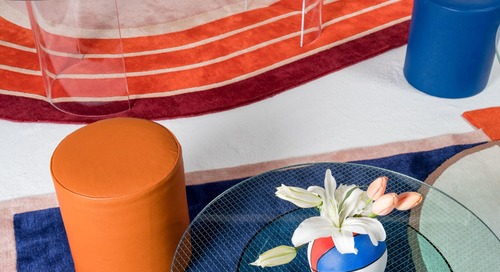 This New Rug Trend is the Easiest Way to Make Your Living Room More Interesting