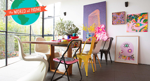 A Colorful Melbourne Home Has Tons of Vibrant Art and an Extremely Photogenic Dog