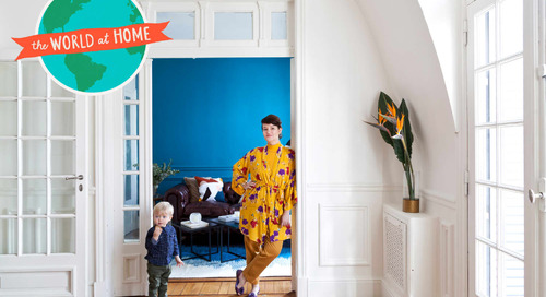 This Argentinian Home Has Stunning Architecture, Bold Colors, and the Most Beautiful Entryway Wallpaper