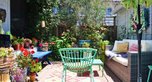 Outdoor Chairs to Dress Up Your Space—Outside AND Inside