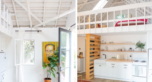 A Dilapidated Detached Garage Is Now a Light, Bright and Modern 400-Square-Foot Apartment
