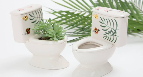 You Can Buy a Miniature Succulent Planter in the Shape of a Toilet on Etsy