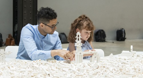 This LEGO Installation Invites People to Build a Futuristic City