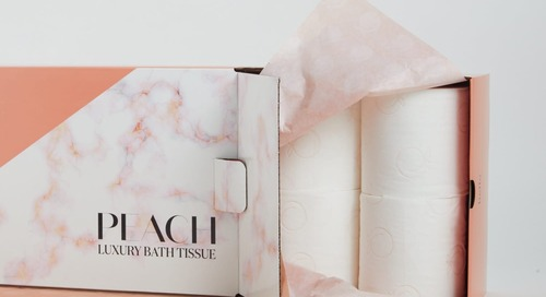 Your Derrière Deserves This Fancy Toilet Paper Embossed with Peaches