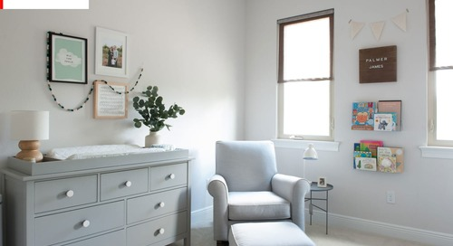 SPONSORED POST: Before & After: A Nursery Goes from Sleepy to Dreamy