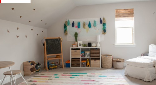 SPONSORED POST: Before & After: A Kids' Playroom Gets Way More Playful With a Geometric Paint Jo