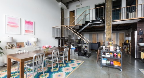 SPONSORED POST: This Warmly Industrial Loft Is Full of Renter-Friendly Ideas