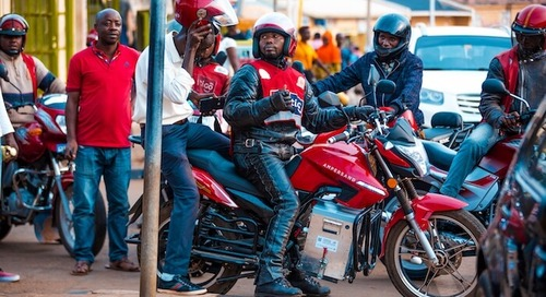 In Rwanda, a Battery-Powered Motorcycle Spares the Air and Helps Drivers Thrive