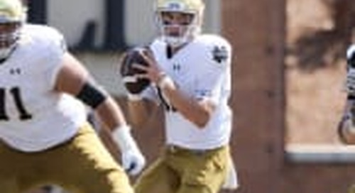 Notre Dame QB Ian Book Named To Davey O'Brien Watch List