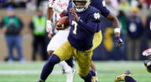 Notre Dame Quarterback Brandon Wimbush Getting Little Preseason Love