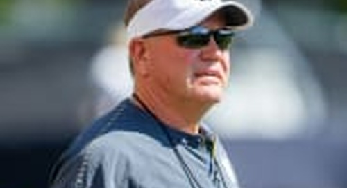 Notre Dame Head Coach Brian Kelly Talks Practice 10 Of Fall Camp