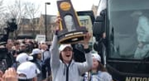 BGI Video: Irish Women Arrive In South Bend With National Championship