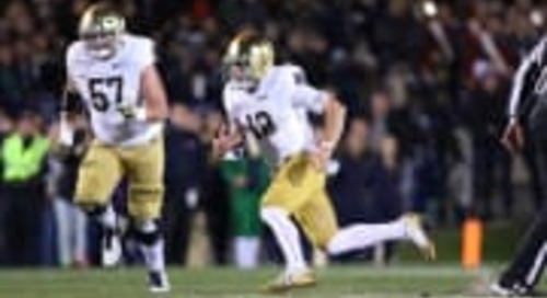 Notre Dame Quarterback Ian Book Needs To Run With The Big Dogs