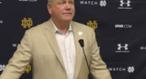 BGI Video: Brian Kelly Talks Wake Forest Prep