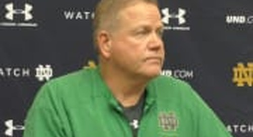 BGI Video: Brian Kelly On Irish Quarterbacks & More