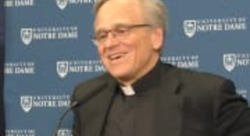 Video: Father Jenkins, Mike Brey Talk College Basketball Commission Report