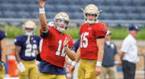 Notre Dame's Quarterback Depth Chart Has Crystalized