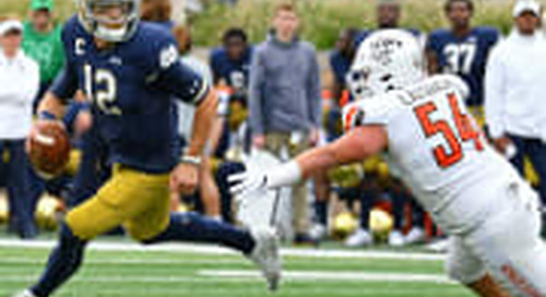 Offensive Grades: Book Improves and Notre Dame Smashes Bowling Green