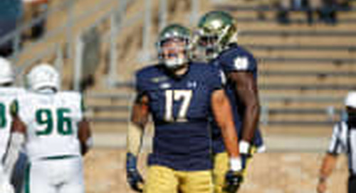 Notebook: Jordan Botelho's Debut Impresses Brian Kelly