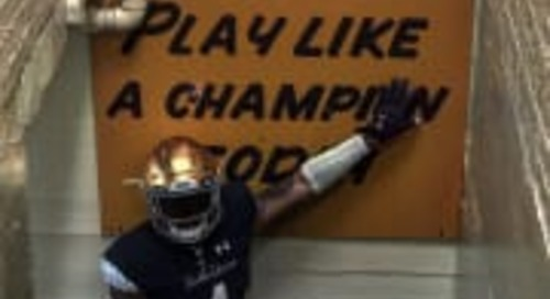 Four-Star RB Tirek Murphy Recaps 'Beautiful' Visit To Notre Dame
