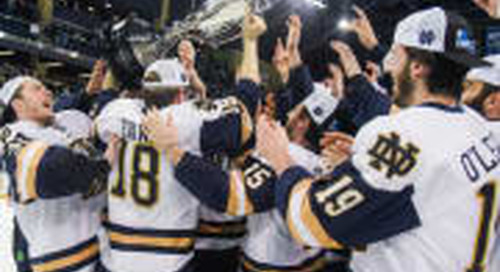 Notre Dame Hockey Sweeps Big Ten Titles