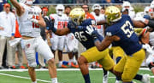 Pro Football Focus: Notre Dame Defense Vs. Bowling Green