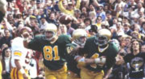 Remembering 1976-79 Notre Dame Fullback Dave Mitchell