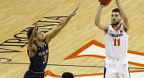 Notre Dame's Upset Bid Falls Just Short At No. 4 Virginia, 60-54
