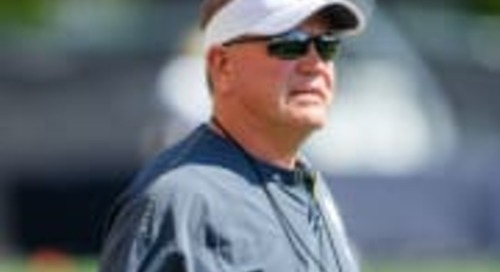 Notre Dame Head Coach Brian Kelly Talks Practice 9 Of Fall Camp