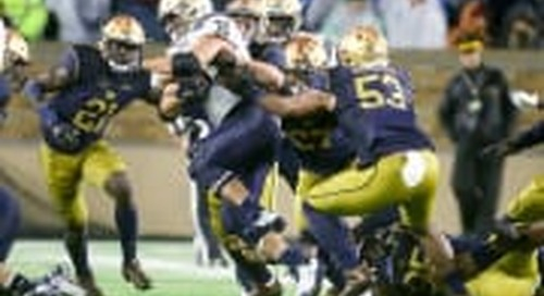 Notre Dame-Navy To Play At  8 p.m. ET