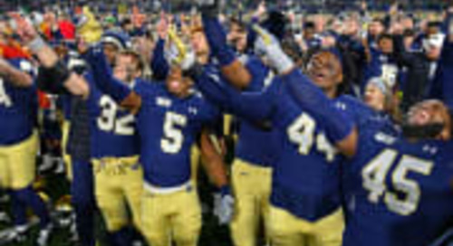 Notre Dame 11-2 Finish Would Be A First