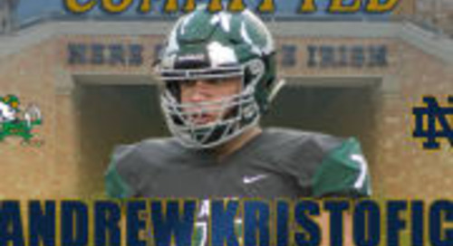 2019 OL Andrew Kristofic Commits To Notre Dame