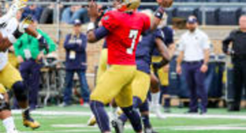 FILM ROOM: Brandon Wimbush Shows Growth During The Spring