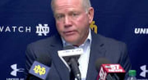 BGI VIDEO: Brian Kelly Talks Notre Dame's 38-7 Win Over Duke