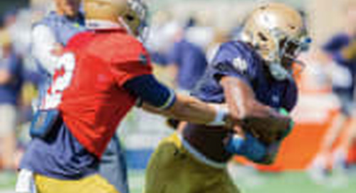 Notre Dame Head Coach Brian Kelly Talks Practice 11 Of Fall Camp